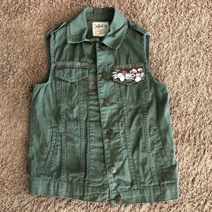 Dolled up jeweled green vest